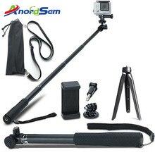 Akcesoria Anordsem Selfie Stick z wyciągnikiem Monopod statyw do kamerki GoPro Hero 8 7 6 5 4 sj kamery akcji DJI dla XiaomiYI 4K