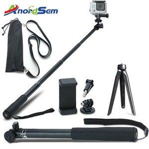 Image 1 - Anordsem Accessories Extendable Selfie Stick Monopod Mount Tripod for GoPro Hero 8 7 6 5 4 sj DJI Action Cameras For XiaomiYI 4K