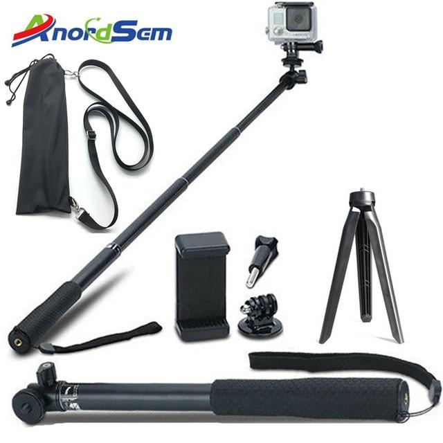 Anordsem Accessories Extendable Selfie Stick Monopod Mount Tripod for GoPro Hero 8 7 6 5 4 sj DJI Action Cameras For XiaomiYI 4K