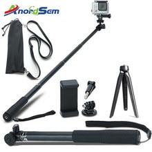 Аксессуары Anordsem, раздвижная селфи палка, монопод, крепление, штатив для экшн камер GoPro Hero 8 7 6 5 4 sj DJI для XiaomiYI 4K