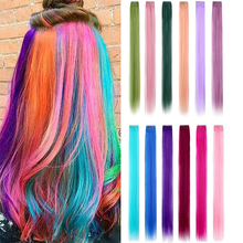 Hairpiece Synthetic-Hair One-Piece-Strips Clip Women Xbwig for 12-Pure