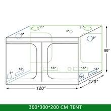 Купить с кэшбэком Grow Tent 300 with Light for Indoor Hydroponics Greenhouse Plants Lighting 600D Grow Tent Indoor For plant grow lights