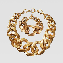 Dvacaman ZA, золотое ожерелье на цепочке, Чокеры для женщин, металлическое круглое звено, массивное ожерелье, s макси панк, модные вечерние ювелирные изделия
