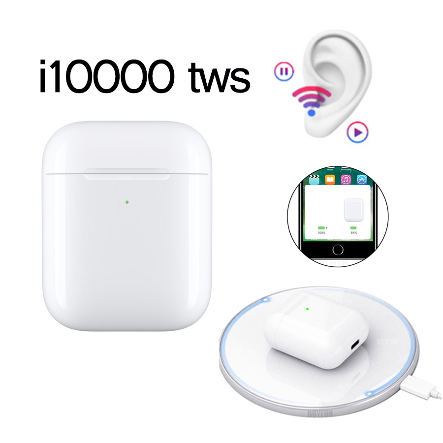 i10000 <font><b>TWS</b></font> Bluetooth 5.0 Earphone 1:1 Replica Pop Up in ear sensor Earbuds i10000tws Wireless Charging Earphones PK i500 <font><b>i9999</b></font> image