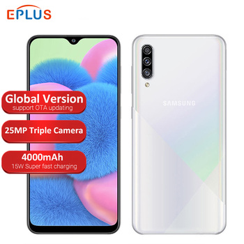 Перейти на Алиэкспресс и купить Новый глобальный мобильный телефон samsung Galaxy A30s A307FN/DS, 4 ГБ, 64 ГБ, две sim-карты, Exynos, 7904, 6,4 дюйма, тройная камера заднего вида, 4000 мА/ч, 4G