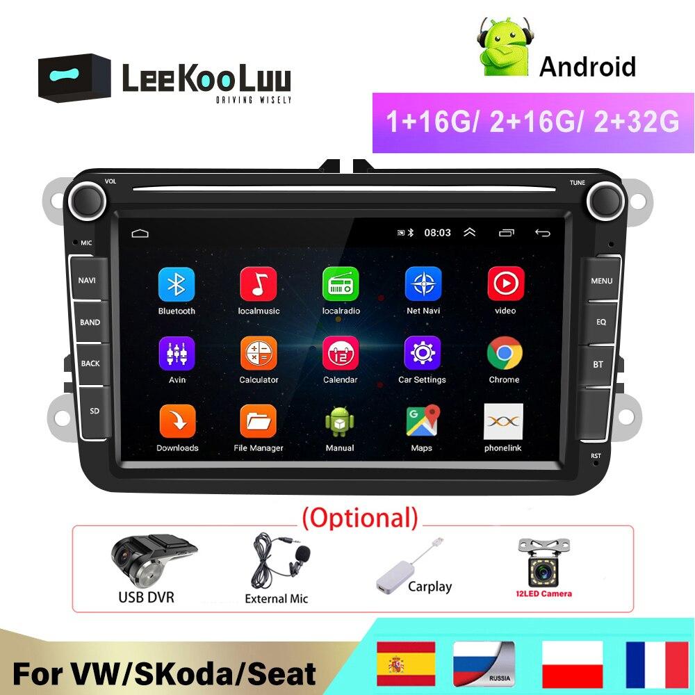 LeeKooLuu 2 Din Android Radio For VW /Volkswagen Skoda Superb Rapid Octavia Yeti Golf toureg passat B6 polo Jetta Car Multimedia