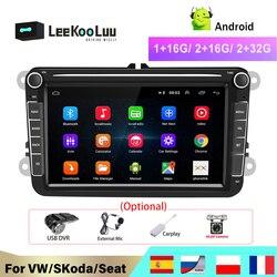 LeeKooLuu 2 Din Android автомобильный Радио для VW /Volkswagen Skoda Superb Октавия Рапид Yeti Гольф toureg passat B6 поло Jetta Автомобильный мультимедийный