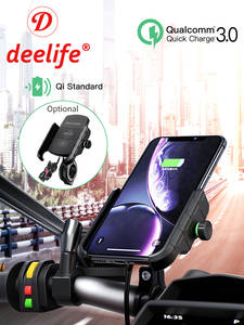Deelife Mobile-Phone-Holder Stand-Bracket Cell-Phone-Mount-Support Motorbike-Mirror Usb-Charger