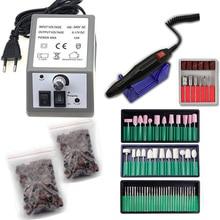 Professional Milling Manicure Machine Set Kits Nail Drill Art Tool With 3 Boxes Bit