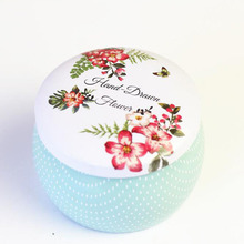 Christmas round iron wedding favors and gifts chocolate candy box dessert gift birthday party decoration festival supplies