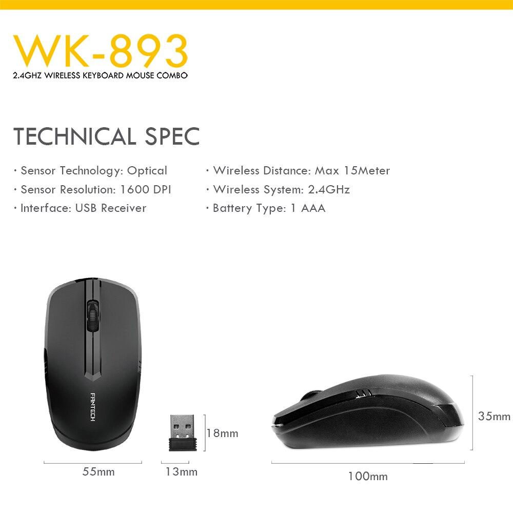 Fantech WK-893 Wireless Keyboard Mouse Combo 9