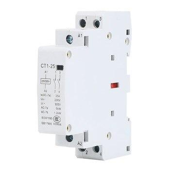 цена на CT1-25 2P 25A 220V/230V 50/60HZ Din rail Household ac Modular contactor  2NO 2NC or 1NO 1NC