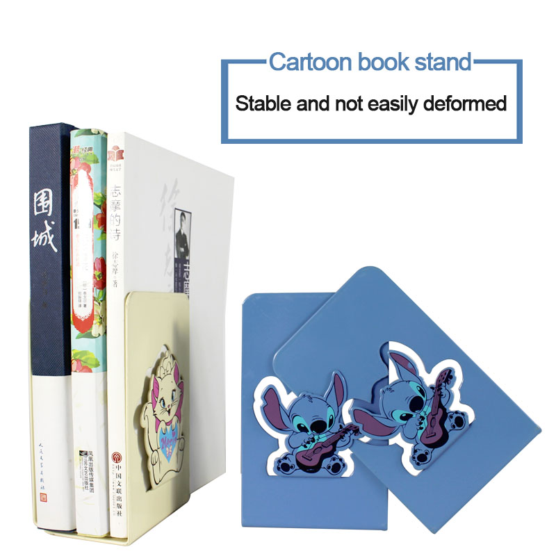 1 Pair Book Organizer Cartoon Book Holder Metal Desk Bookends Cute Bookends For Children