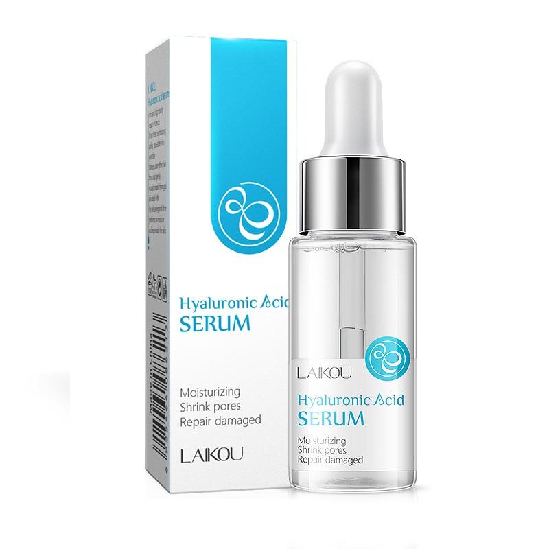 LAIKOU 15ml Hyaluronic Acid Serum Moisturizing Essence Face Cream Korean Shrink Pores LANBENA Acne Hyaluron Cosmetics Make Up