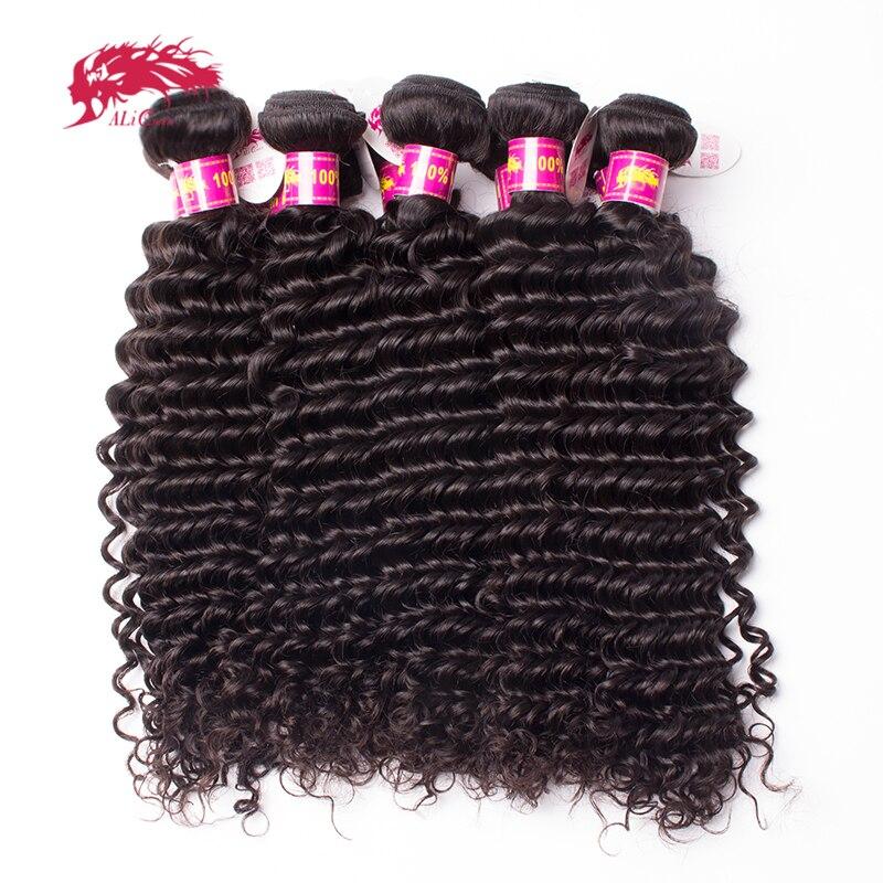 Ali Queen cheveux produits vierge cheveux malaisiens vague profonde en gros 10 pièces Lot cheveux humains faisceaux 10-26 pouces livraison gratuite