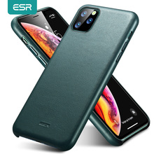 Carcasa ESR para iPhone 11 Pro Max, Funda de cuero genuino para iPhone 12 mini 12Pro Max, funda trasera de lujo para iPhone 11 12 11Pro Max