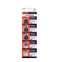 5pcs new battery for cr2025 3v button cell coin batteries for watch computer cr 2025 стоимость