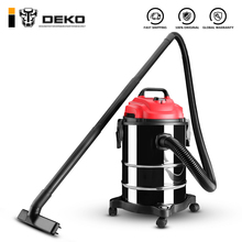 Вакуумный Пылесос DEKO DKVC-1400-15S 1400W 15L для сухой и влажной уборки, Нержавеющая сталь, портативный мощный вентилятор