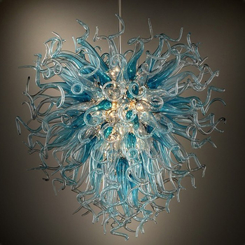 Custom Made Luxury Chandelier Lighting LED Hand Blown Glass Chandelier for Indoor Home Decoration elegant hotel big murano chandelier and hand blown glass chandelier