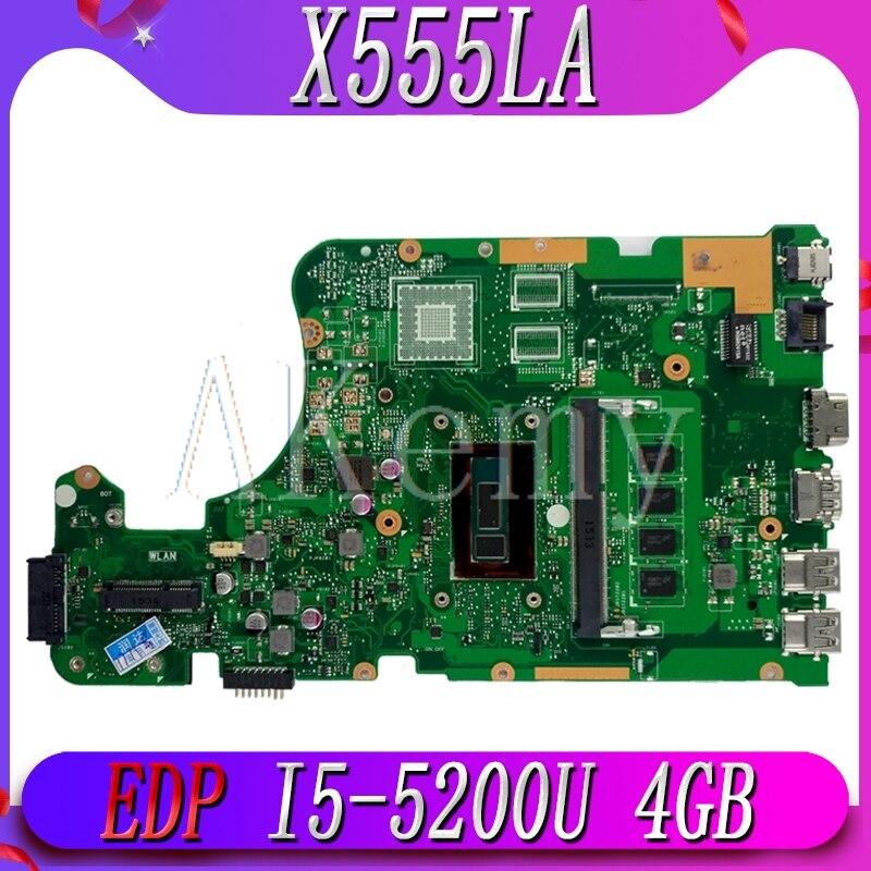 Asus X555LD Laptop Motherboard Intel i5-5200U 2.2Ghz CPU 60NB0650-MB7720