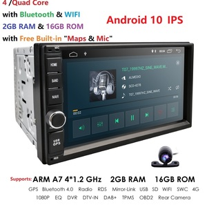 Universal 2Din Car Auto Radio GPS Navigation HIZPO 7inch Touchscreen Android 10 OS 2GB RAM In Dash MultiMedia Player Wifi BT SWC
