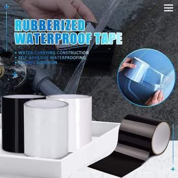 Samoprzylepna wodoodporna taśma Super silny fibre Stop przecieki uszczelka taśma naprawcza wydajność taśma samoprzylepna Home Water Sink Seal Tool tanie i dobre opinie hydrauliczny Self-adhesive Waterproof Tape Taśma Maskująca