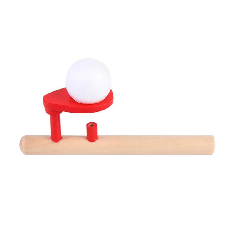 1Set Classic Wooden Game Floating Ball Schylling Blow  Ball Toys Hobbies Fun Sports Toy Floating Ball Game Educational Baby Toys