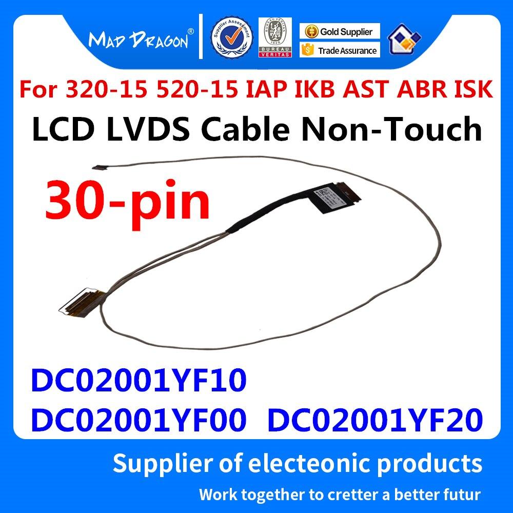 Новый ЖК-кабель LVDS для Lenovo xiaoxin 5000, Ideapad 320-15 520-15 IAP IKB AST ABR ISK DG521 DC02001YF10 DC02001YF00 DC02001YF20