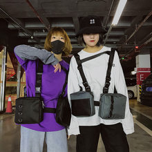 INS New Style Hong Kong Style Handsome Men And Women Double Chicken Bag Hip Hop Trend Wallet Disco Dancing Bag Waistcoat Bag-(China)