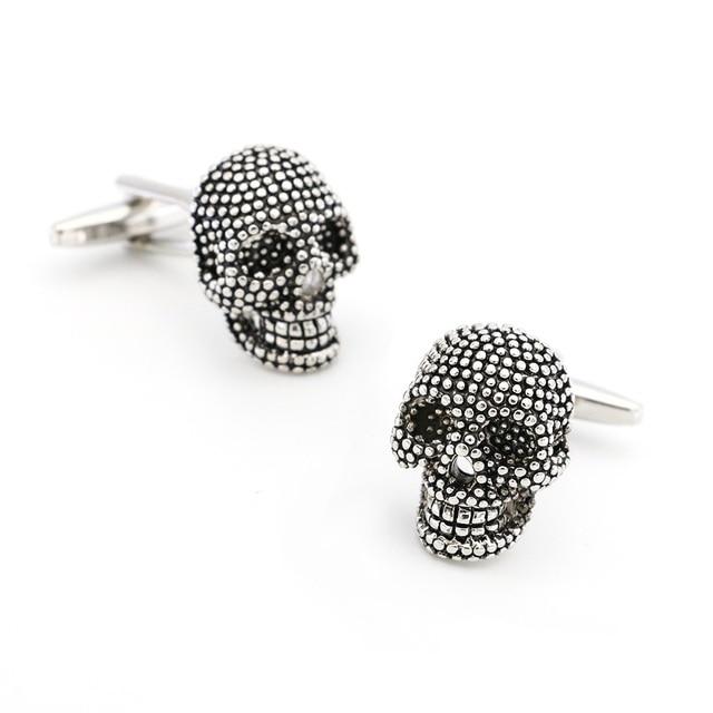 Free Shipping Skull Cufflinks 28 Vintage Skeleton Designs Men's Designer Cuff Links Wholesale&retail 3