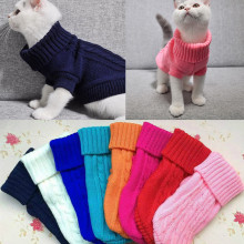 Рождественская одежда для домашних животных, котов для маленьких кошек, Сфинкс, зимние теплые вязаные костюмы со свитером для кошек, пальто, куртка для питомцев, кошек, собак