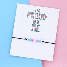 Радуга, фестиваль Прайд браслет желаний транссексуалов гордость бусины браслет Радужный Флаг ЛГБТ Би ювелирные изделия Для женщин мужчин т...