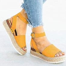 Women Thick Bottom Sandal Fish Mouth Wedge Platform Feamle Sandal Ladies Buckle Closure Open Toe Summer Casual Shoes 2017 newest handmade crystal beaded wedge slippers open toe butterfly knot platform sandal transparent pvc sandal