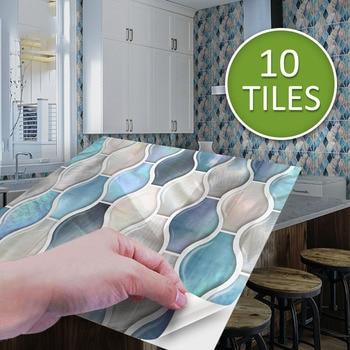 3D Mosaic Self-Adhesive Wall Tile Sticker Vinyl Bathroom Kitchen Home Decor DIY Wall Decal Decorative Stickers Wall Stickers недорого