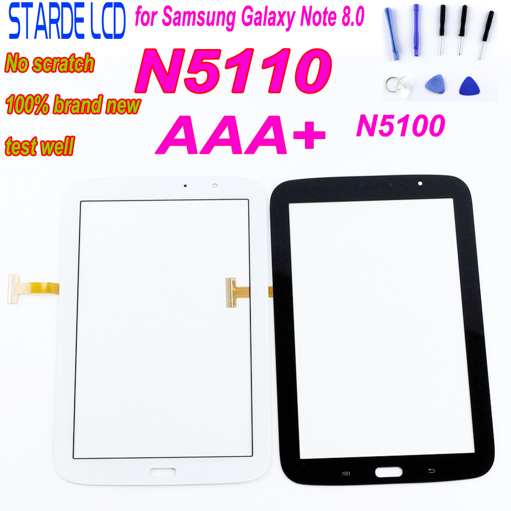 New N5100 Front Touch Screen Panel For Samsung Galaxy Note 8.0 N5110 Tablet Digitizer Touch Screen Front Glass Sensor 3G & Wifi