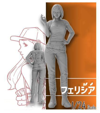 1/35  Modern Girl Ancient -- Stand  Resin Figure Model Kits Miniature Gk Unassembly Unpainted