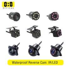 Vista trasera de coche Cámara 4 LED de visión nocturna invertir Monitor de aparcamiento de coche CCD impermeable 170 grados vídeo HD