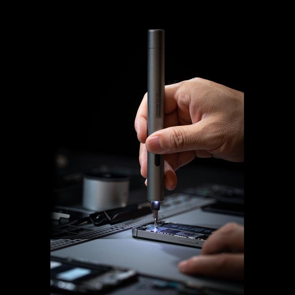 H854ff0f1108a4d1a83dc34b1b9653bafM - Electric Screwdriver  3-speed Screwdrivers Pen 24pcs Precision Bits Set Cordless Magnetic Screw Driver Phone Device Repair