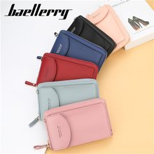 Baellerry Ladies leisure Travel Diagonal One-shoulder Mobile Phone Bag Long Coin Bag Ladies Wallet Card bag