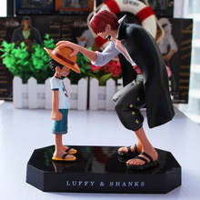 15cm Anime One Piece Four Emperors Shanks Straw Hat Luffy PVC Action Figure Going Merry Doll Collectible Model Toy Figurine