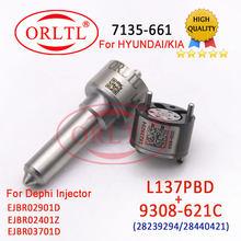 7135-661 Diesel Injecor Kits de reparación de L137PBD y válvula de 9308-621C para inyección EJBR02901D EJBR03701D y EJBR02401Z