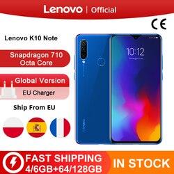 Глобальная версия Lenovo K10 Примечание (Z6 Lite) Snapdragon 710 Octa Core тройной задней камеры 6,3 дюймов 19,5: 9 капли воды 4050 мА-ч