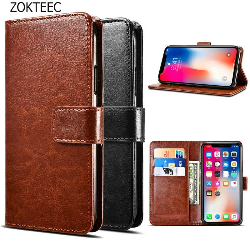 ZOKTEEC card holder cover case For Meizu Pro 7 Plus leather Cover Wallet Flip Case for Bags with Card Holder