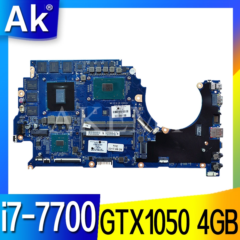 FOR HP 15-ce002 15-CE Laptop Motherboard 929483-601 929483-501 929483-001 DAG3AAMBAE0 w/ <font><b>i7</b></font>-<font><b>7700</b></font> CPU GTX 1050 4GB image