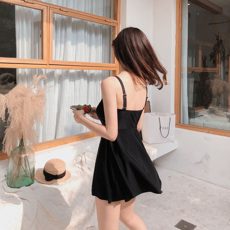 2019 New Style Students Camisole Small Group A Belt-Belly Covering Slimming With Chest Pad Wireless Cup Conservative Bathing Sui