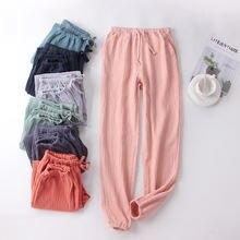 Пижамные брюки для пар Новинка весна осень домашние хлопковые