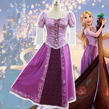 anime movie Rapunzel cosplay Dresses Women halloween costume Vintage long skirt sweet purple tutu adult costume Princess skirt(China)