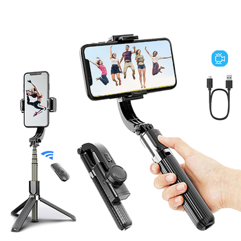 Phone Stabilizer Video Record Universal Handheld Smartphone Gimbal Stabilizers Wireless Bluetooth Selfie Stick Vlog Live Stream