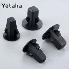 Yetaha 50 sztuk klipsy mocujące do samochodu zderzak błotnik wewnętrzny nity Push panel drzwiowy pokrywa przedni tylny klips koła dla Toyota Honda Ford
