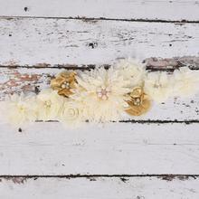 Пояс для беременных, Цветочный Пояс из слоновой кости/золотой пояс для беременных, реквизит для фотосессии, подарочная лента для вечеринки
